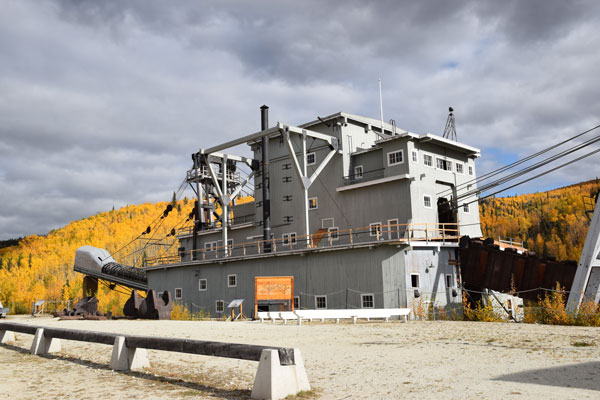 Dredge no 4 used in the Klondike Gold Rush