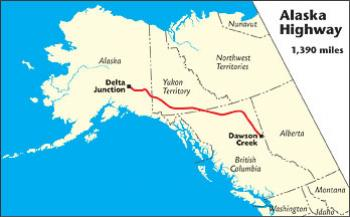 Map Of Alaska Canada Highway Alaska Highway   The MILEPOST