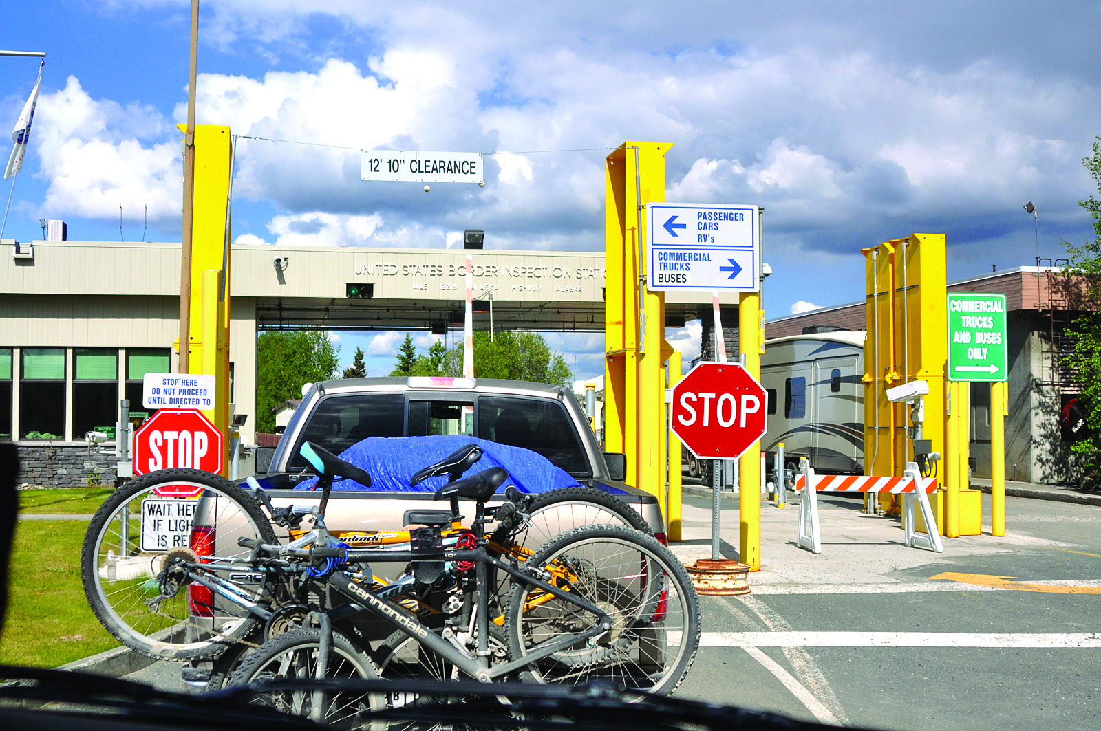 Crossing The Border The Milepost