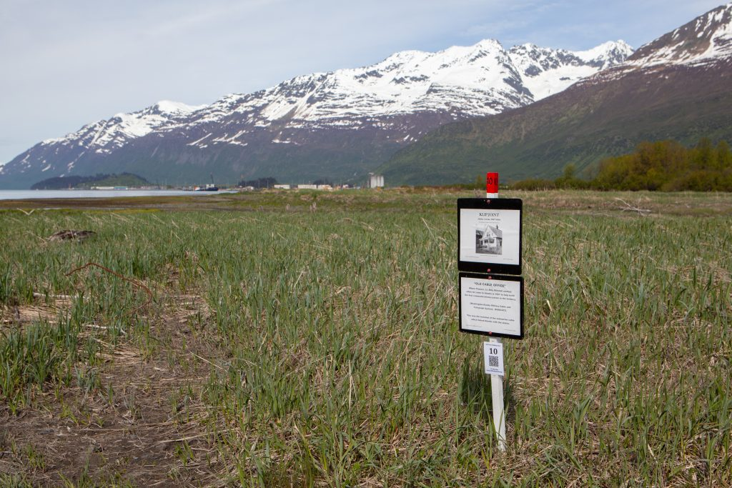 Informational sign about old Valdez