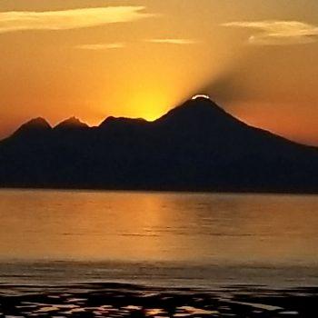My Illiamna sunset