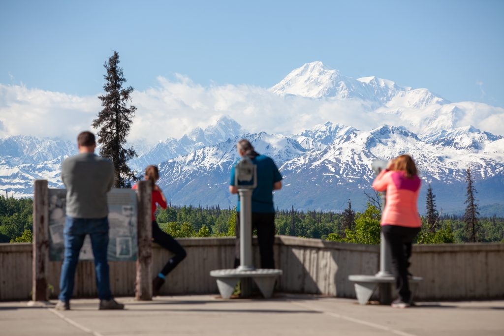 Visitors view Denali