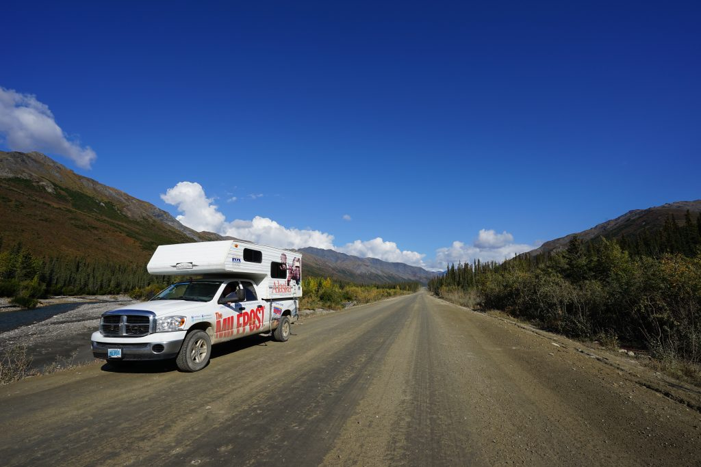 MILEPOST truck on the Dalton Highway