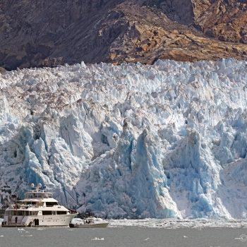 Sawyer Glacier up Tracy Arm in Southeast Alaska