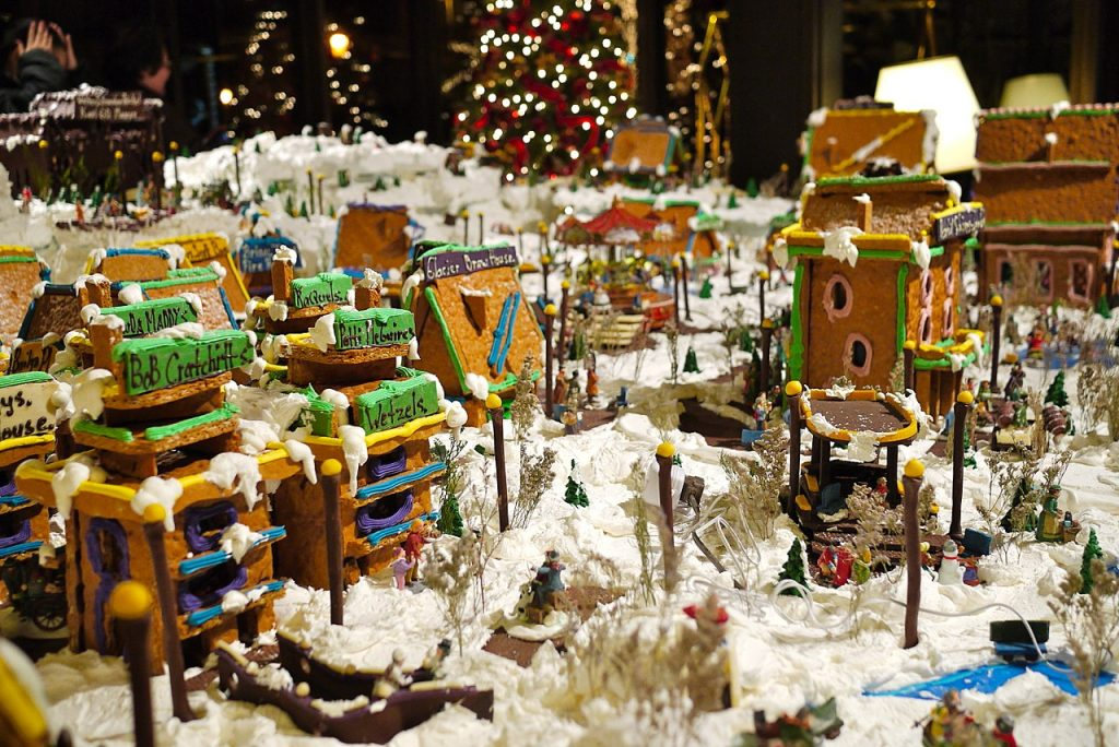 gingerbread village at hotel captain cook